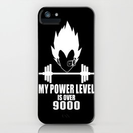 my power level is over 9000 iPhone Case