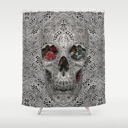 Lace Skull 2 Shower Curtain