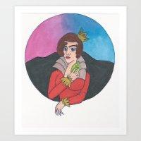 Queen Colored Art Print