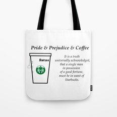 Pride and Prejudice and Coffee Tote Bag