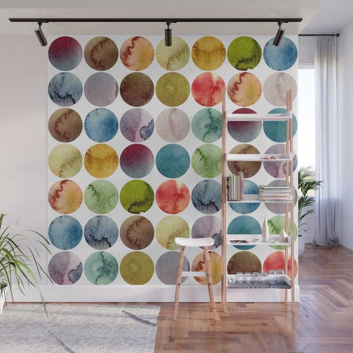 Paint pattern Wall Mural