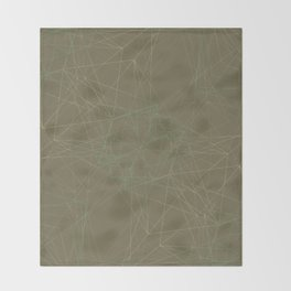 LIGHT LINES ENSEMBLE MARTINI OLIVE-1 Throw Blanket