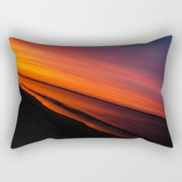 Violent Orange Rectangular Pillow