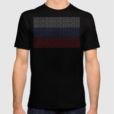 digital Flag (Russia) Black SMALL Mens Fitted Tee