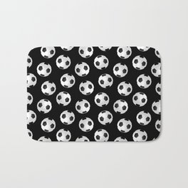 Soccer Ball Pattern-Black Bath Mat