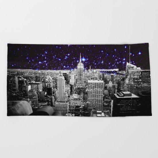 New York City Indigo Stars Beach Towel