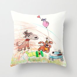 :: Underdogs Party-on-the-Lawn :: Throw Pillow