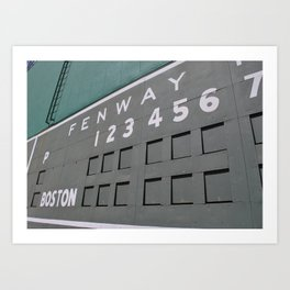 Fenwall -- Boston Fenway Park Wall, Green Monster, Red Sox Art Print
