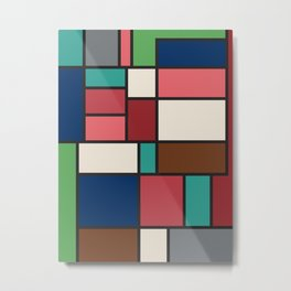 The Colors of / Mondrian Series - Spirited Away - Miyazaki Metal Print