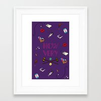 heathers Framed Art Prints featuring Heathers (Holy Trinity Print #1) by Sarah Nolan