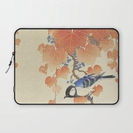 Great tit on paulownia branch (1925 - 1936) by Ohara Koson (1877-1945) Laptop Sleeve