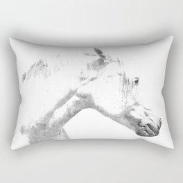 White Horse Profile Rectangular Pillow