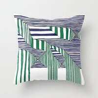 stripes Throw Pillows featuring Stripes by Take F1ve