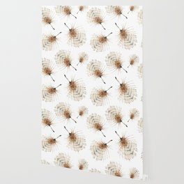 Delicate Brown Feather Seamless Pattern Wallpaper