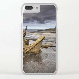 The wreck of the Admiral von Tromp on the rocks of Saltwick Bay, Clear iPhone Case