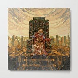 HR-FM - King Deluxe Metal Print