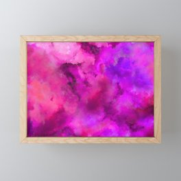 Abstract Pour Art - Pink and Purple Framed Mini Art Print