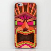 tiki iPhone & iPod Skins featuring Tiki by Cimone Key