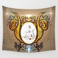 music notes Wall Tapestries featuring Key notes  by nicky2342