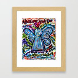 Colorful Cancer Angel Framed Art Print