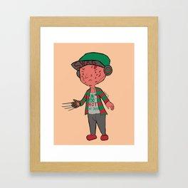 Horror Hipsters - Freddy Krueger Framed Art Print