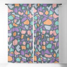 terrazzo 004 Sheer Curtain