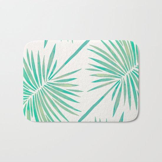 Tropical Fan Palm – Mint Palette Bath Mat
