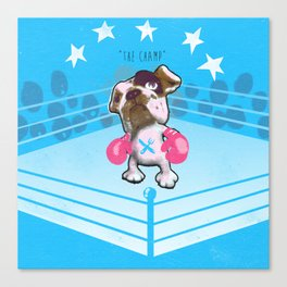 """The Champ"" (raging bull-dog) Canvas Print"