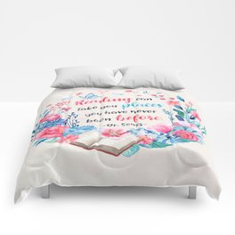 Reading can take you places Comforters