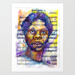 Sinner Man Art Print
