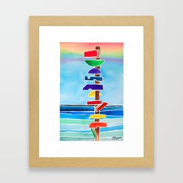 Rhythms at Rainbow Beach Framed Art Print