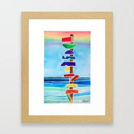 Rhythms at Rainbow Beach Framed Art Print