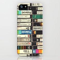 VHS Stack iPhone SE Slim Case