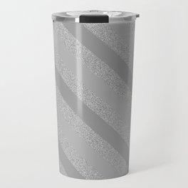 Grey Glitter Stripes Pattern - by Rui & Cheryl Travel Mug