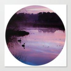 Pond Circle Canvas Print