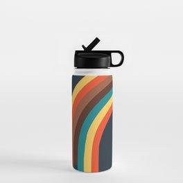 Retro Rainbow 70s colors Water Bottle