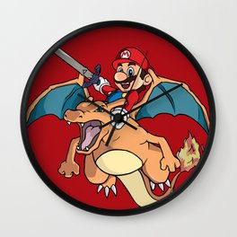 Mario Attack (parody) Wall Clock