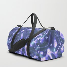 Blue & White Liquid Plastic Duffle Bag