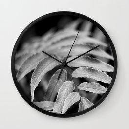 Deep In - leaves & fern Wall Clock