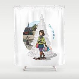 Love Honfleur Shower Curtain