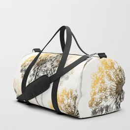 Wildflowers on White - Retro Style #decor #society6 #buyart Duffle Bag