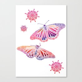 Touchy Butterfly  Canvas Print