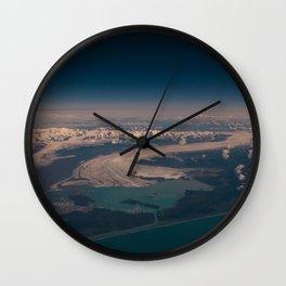 Aerial Glacier Three - Alaska Wall Clock