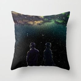 John and Rodney - A Galaxy Away Throw Pillow