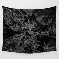 stockholm Wall Tapestries featuring Stockholm  by Line Line Lines