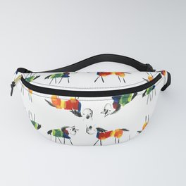 Little Rainbow Ponies Pattern Fanny Pack
