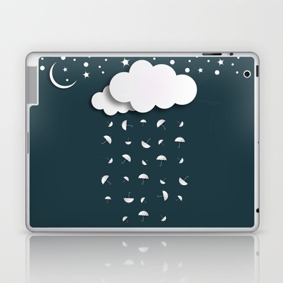 It's raining umbrellas Laptop & iPad Skin