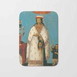 Inca Princess - La Gran Ñusta Mama Occollo, 1800s Bath Mat