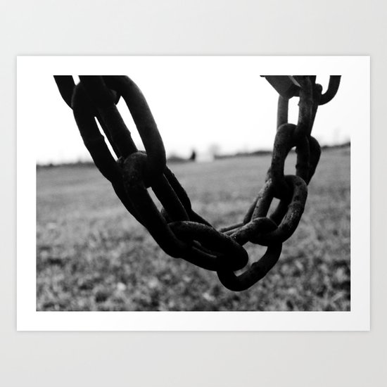 Chained Art Print