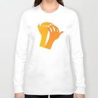 hands Long Sleeve T-shirts featuring hands by alex eben meyer